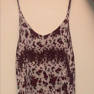 BRANDY MELVILLE FLOWY FLOWER PRINT DRESS
